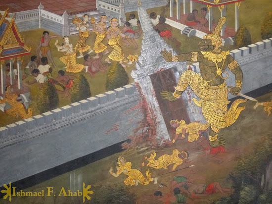 Ramakien in Bangkok Grand Palace: abduction of Sida