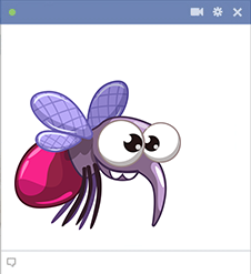 Fly Facebook sticker