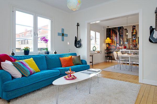 Die Wohngalerie Pop Gutgelaunter Skandinavischer Stil