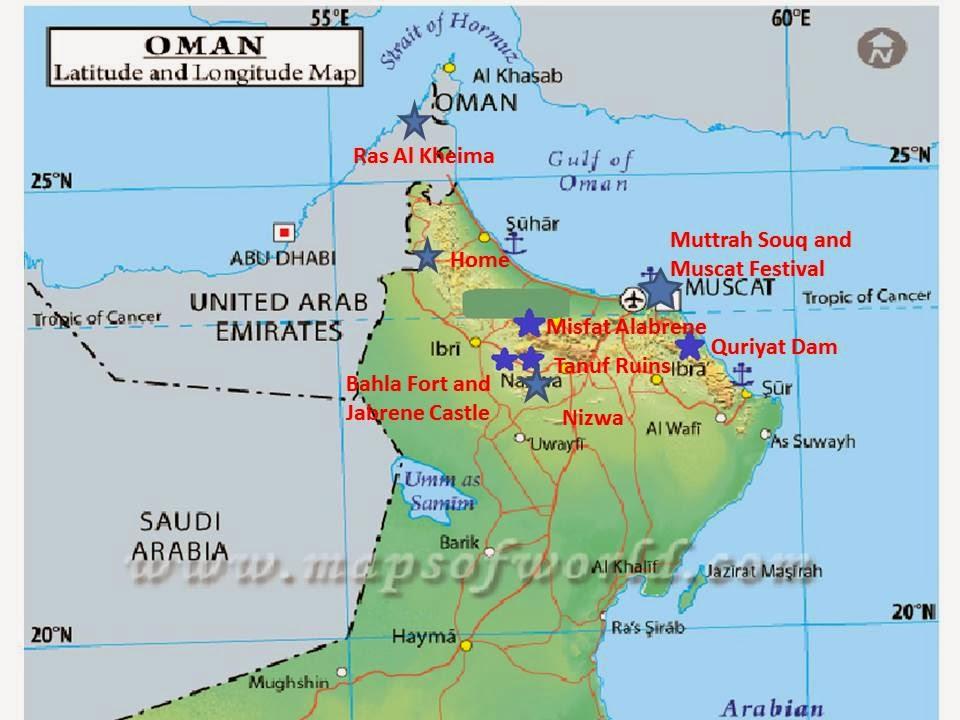O Man What a Life!: Oman Tour! (Map)