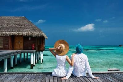 Luxury, Honeymoon, Couple - Relationship, Travel, Hotel, Maldives, Beach, Lifestyles, Tourist Resort, Tropical Climate, Vacations, People, Travel Destinations, Journey, Holiday Villa