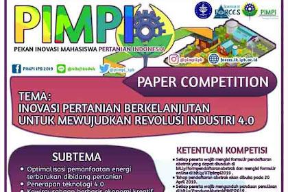 Lomba Paper Nasional Mahasiswa PIMPI 2019 IPB Terbaru