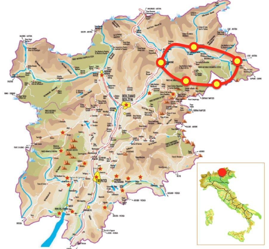 Cosa fare e vedere a Brunico, Bressanone e Val Pusteria