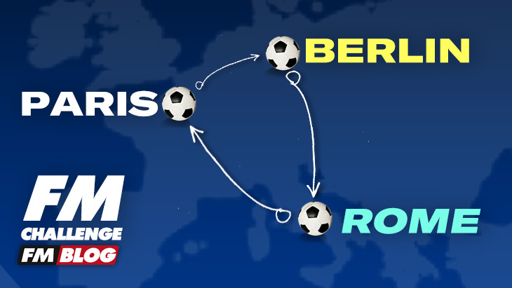The Paris-Berlin-Rome Triangle Football Manager Challenge