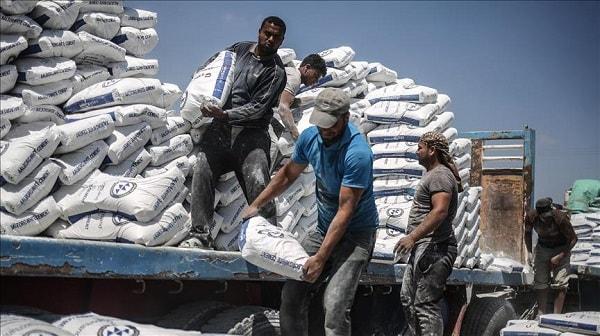 توريد 5آلاف طن اسمنت لقطاع غزة عبر معبر رفح