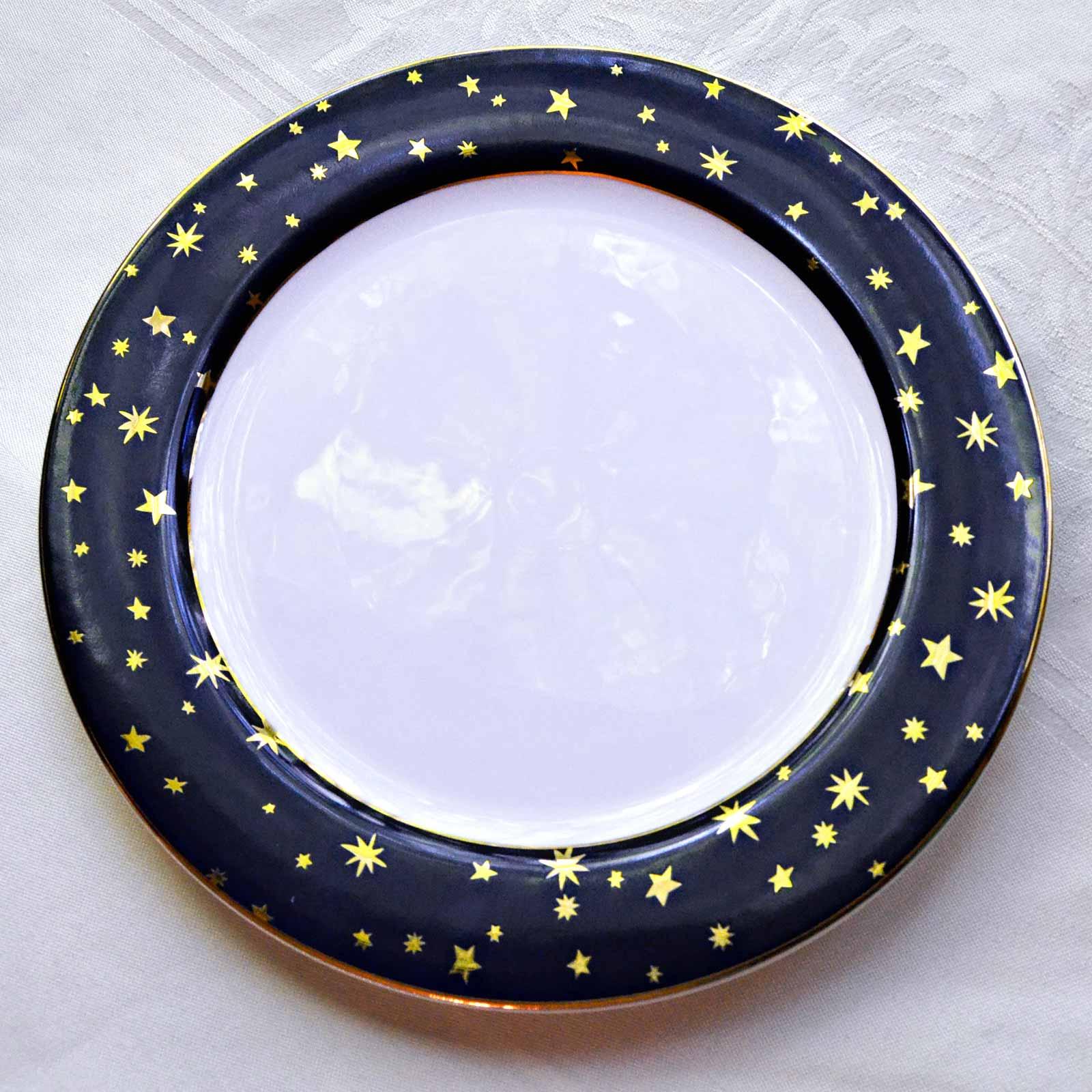 Sakura dinner plate Galaxy pattern