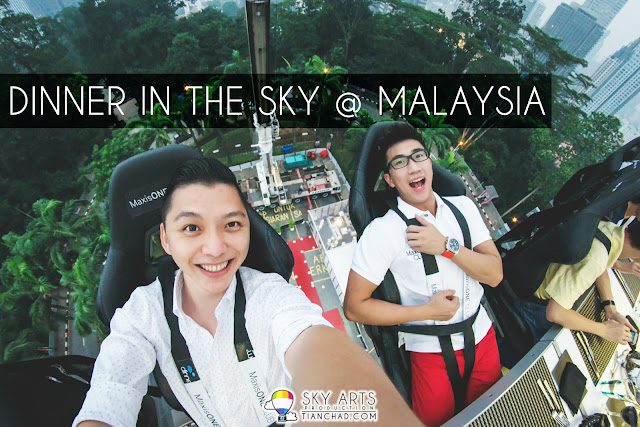 #TCSelfie with Zlwin Chew magician buddy in the mid air during Dinner In The Sky @ KL Tower Carpark