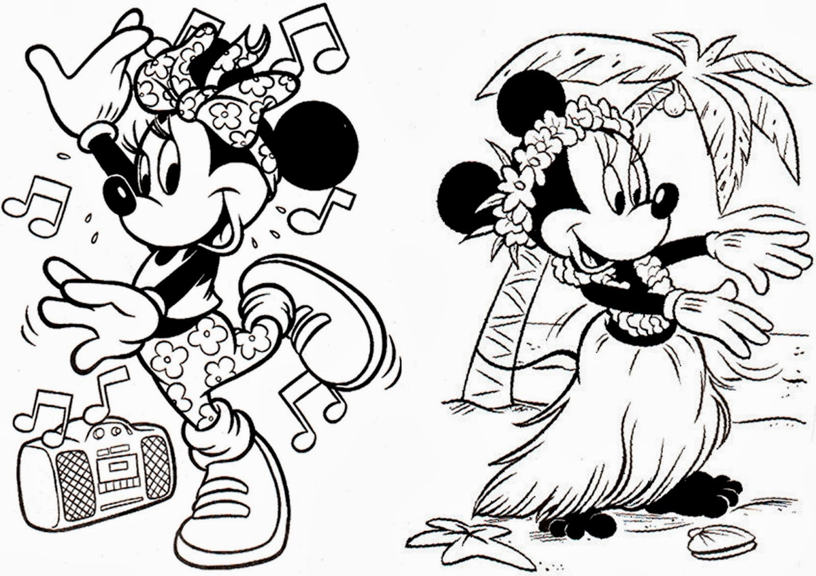 Minnie Libro Para Colorear Para Imprimir Gratis Ideas Y