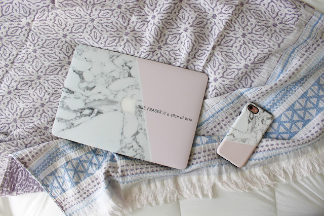 marble phone and laptop case from CaseApp