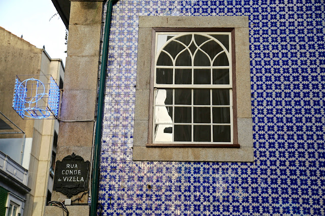 tiled buildings, , Porto, Portugal