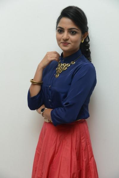 Nikhila Vimal at Meda Meedha Abbayi Pre-Release Function Photos