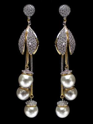 American Diamond Ear Drop Designs