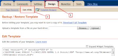 Design Edit Html Blogger