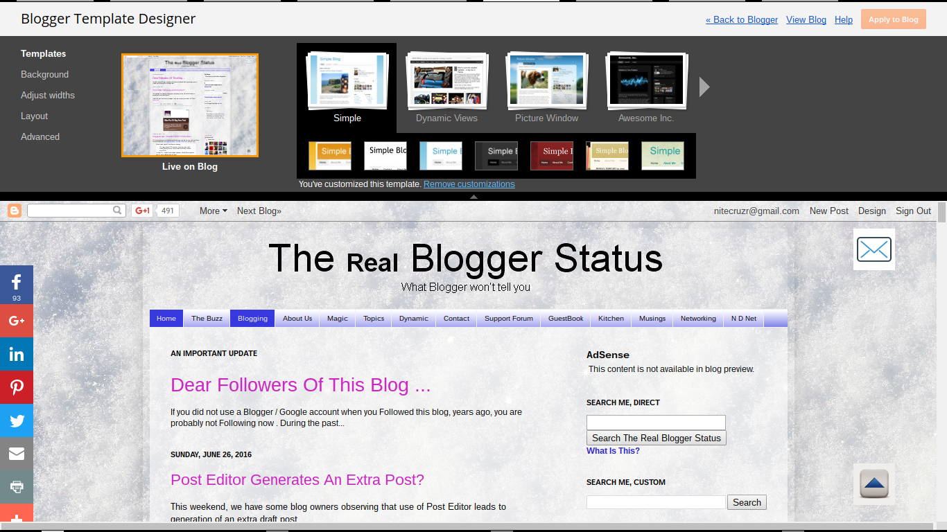 Blogger Magic - Links And Colors