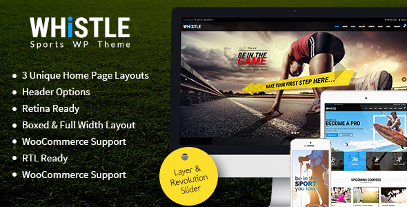 Download Whistle - Sports WordPress Theme