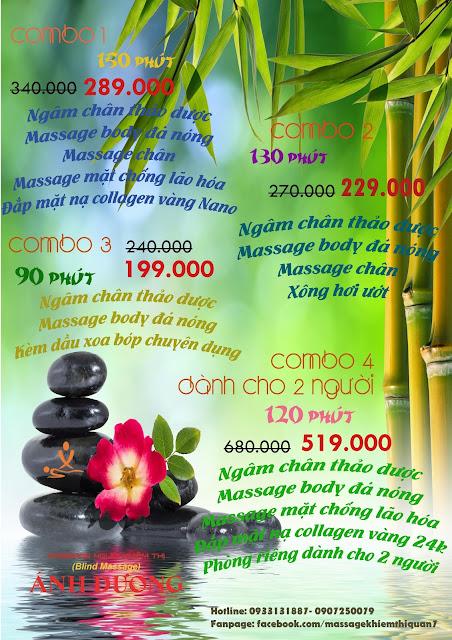 combo massage rẻ