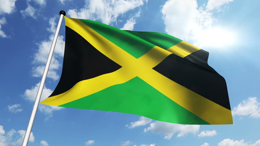 Jamaican flag flying high