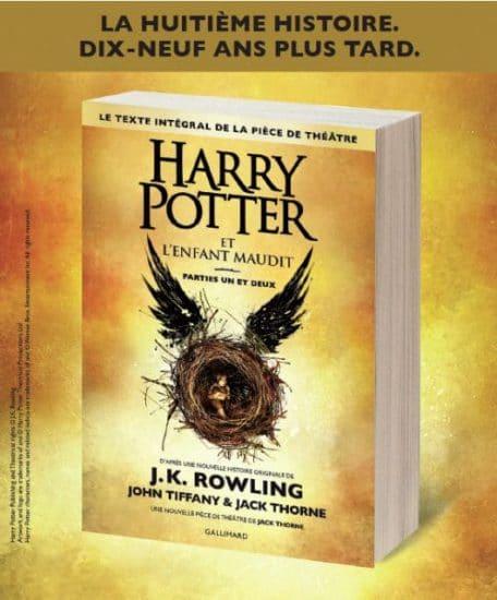 Harry Potter et l'enfant maudit critique tome 8 J.K. Rowling Jack Thorne pièce de théâtre