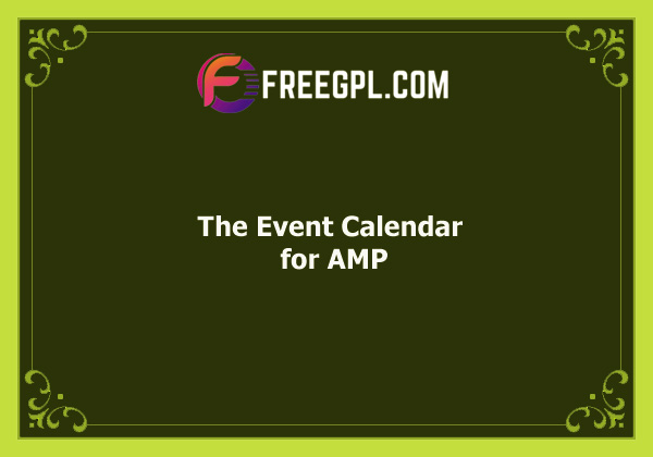 The Event Calendar for AMP Nulled Download Free