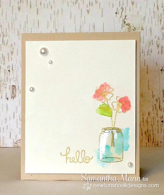 hello Flower Card by Samantha Mann for Newton's Nook Designs | Versatile Vases