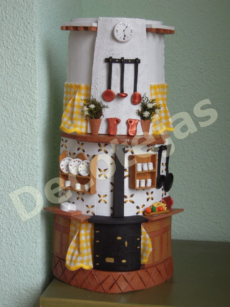 Las tejas de dina tejas cocina - Tejas pequenas decoradas ...