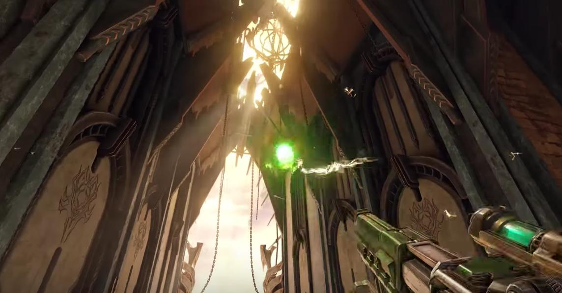 Quake Champions se luce en un nuevo vídeo de su arena Blood Covenant