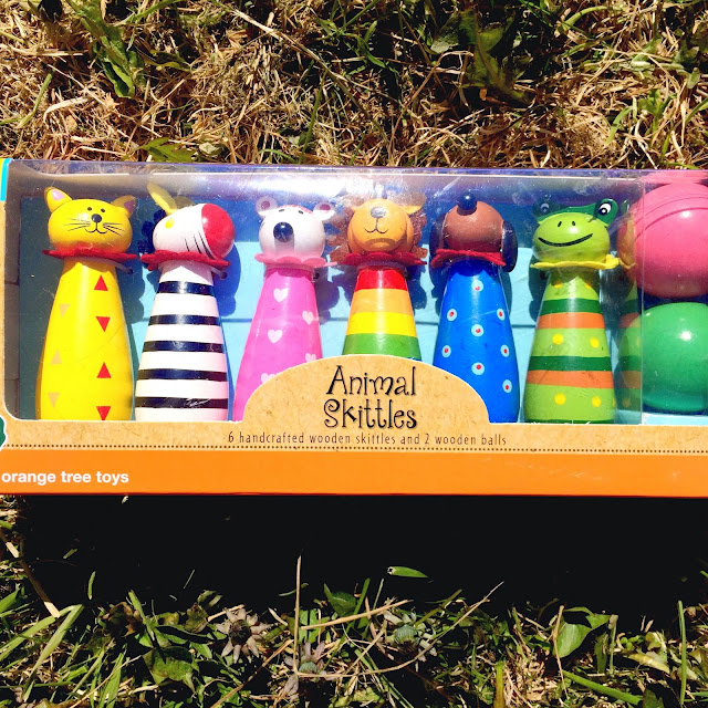 boxed animal skittle and ball toy