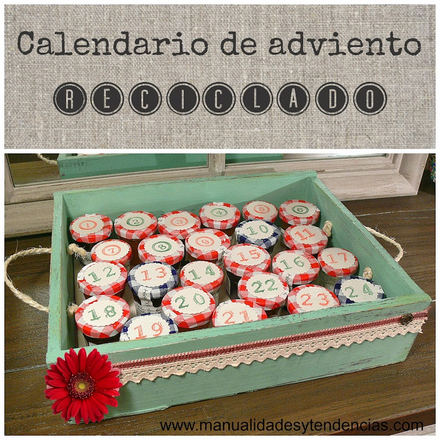 Tutorial Calendario de adviento reciclado