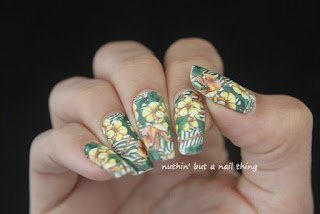Nicole Diary - Full Nail Flower Pattern Water Decals