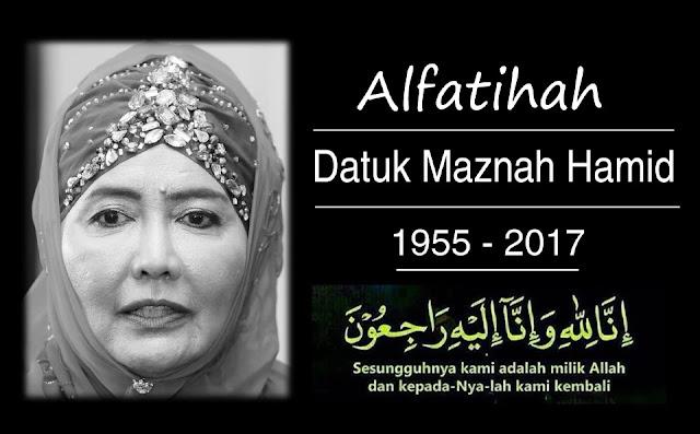 Iron Lady Datuk Maznah Hamid Meninggal Dunia