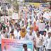 राहुल गांधी पर हुए हमले के विरोध प्रदर्शन में निकली गई रैली