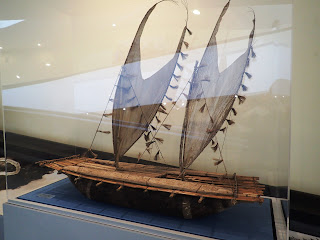 model 3-hull catamaran, New Guinea