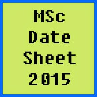 University of Peshawar UPESH MSc Date Sheet 2017 Part 1 and Part 2