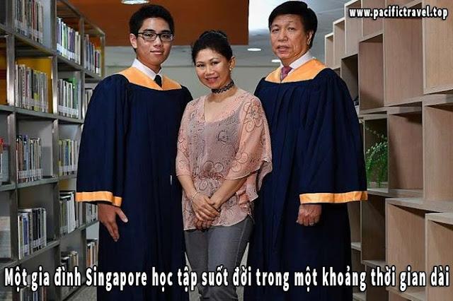 Một gia đình Singapore học tập suốt đời trong một khoảng thời gian dài