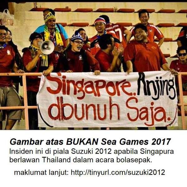 Gambar Yang Di Sebar RBA Sebenarnya Ketika Piala Suzuki 2012 Antara Thailand Dan Singapura