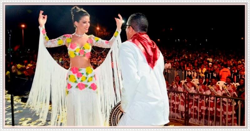 La Reina del Carnaval Maqui bailando Cumbia el Viernes de Carnaval