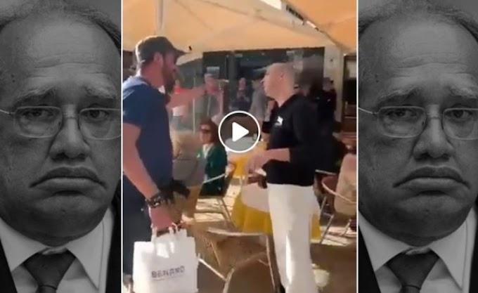 GILMAR É XINGADO ALÉM MAR: O Ministro não tem paz em Portugal; veja vídeo