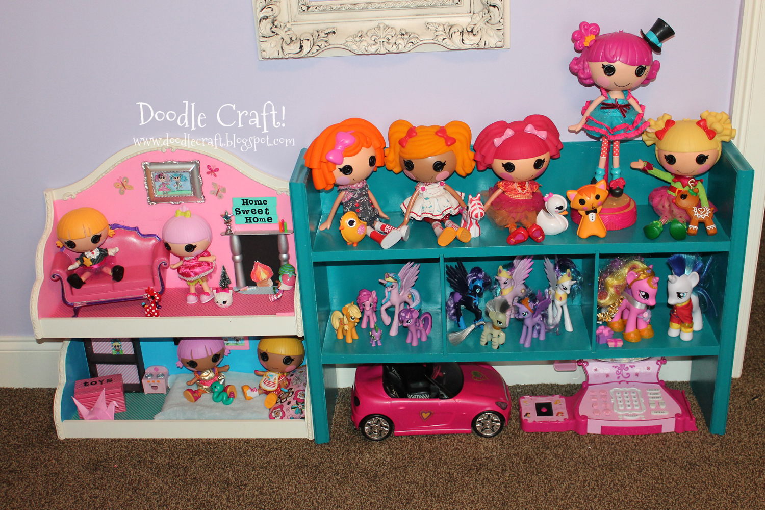 Lalaloopsy And My Little Pony Dollhouse From Shelf