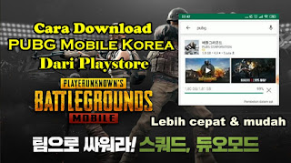 Cara Download Dan Instal PUBG Mobile Korea Dari Playstore