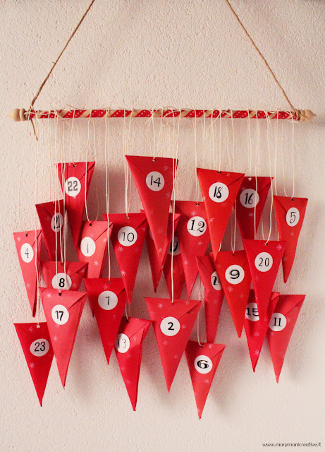 calendario-avvento-coni-di-carta-DIY