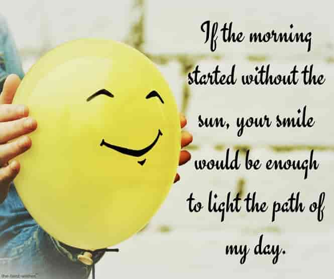 good morning to you my love messages with smiling balloon