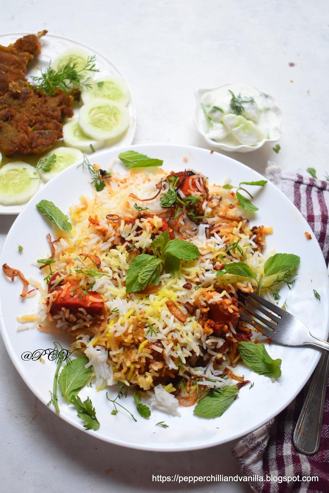 Easy Murgh Makhani Biryani /Butter Chicken Biryani Recipe
