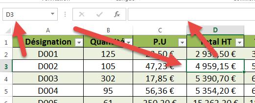 Empêcher l'affichage des formules dans la barre de formule