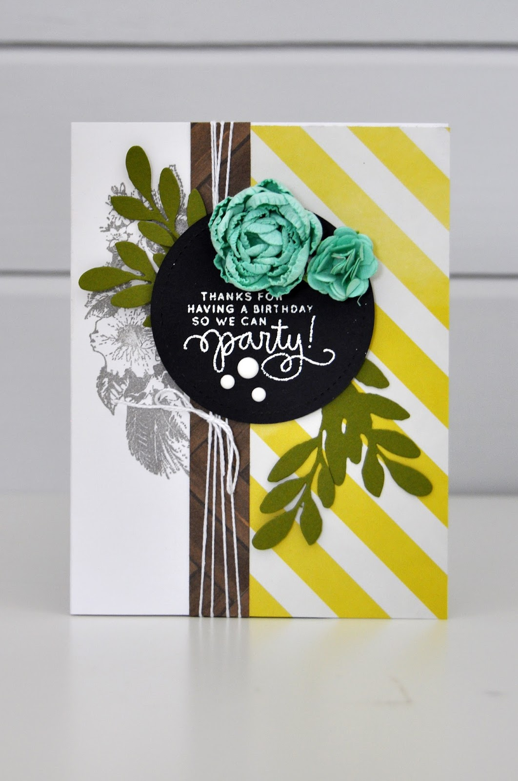 "March ""Inspired By"" challenge card by Jen Gallacher. #inspiration #diecutting #stamping"