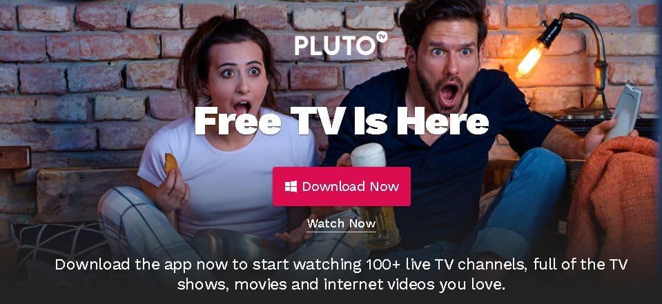 7- موقع Pluto TV