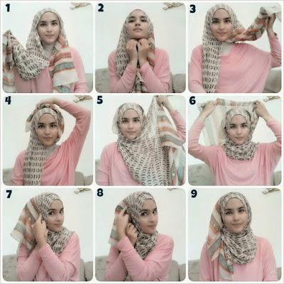 Cara Hijab Kerudung Segi Empat