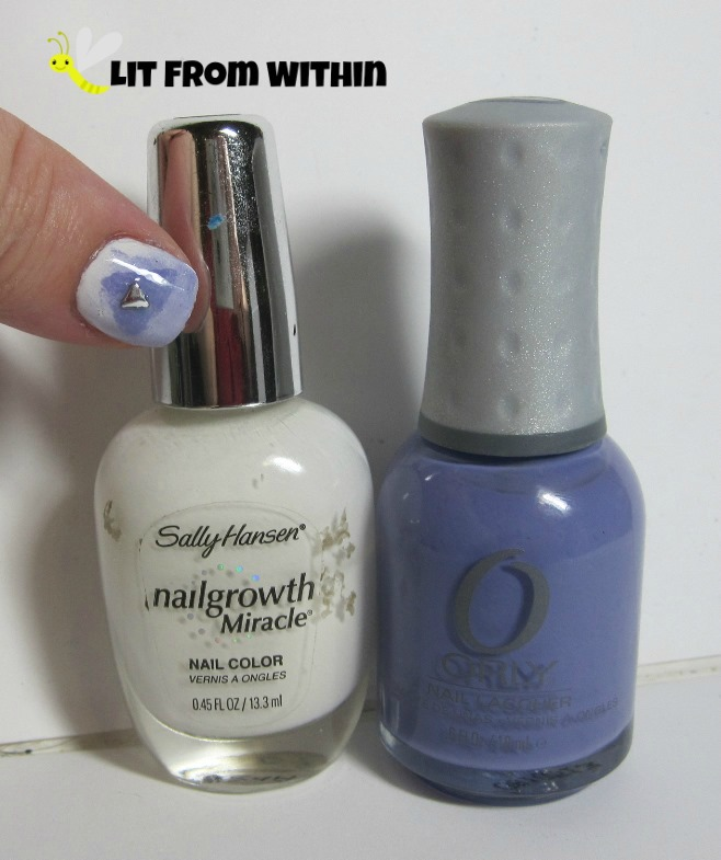 Bottle shot:  Sally Hansen White Tip and Orly Cashmere Cardigan.