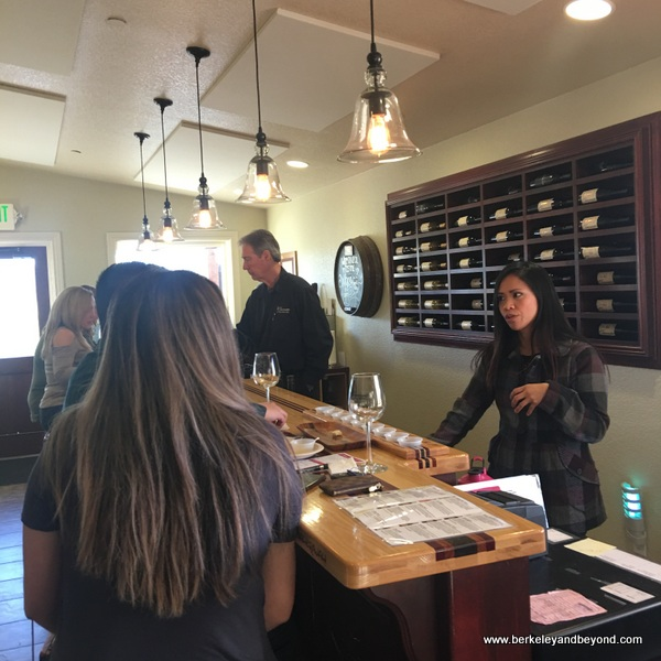 wine tasting at Chacewater Winery and Olive Mill in Kelseyville, California