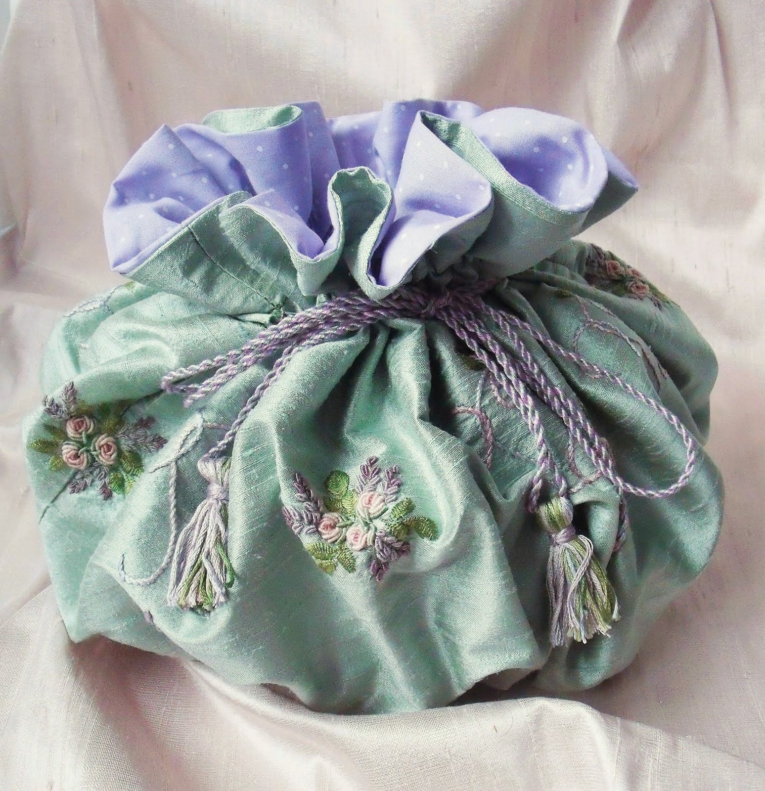 Silk Embroidered Bag