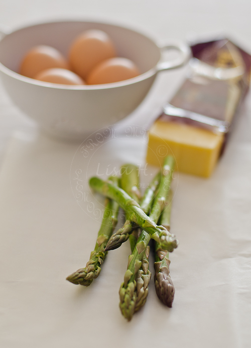 Asparagus with homemade Hollandaise Sauce.